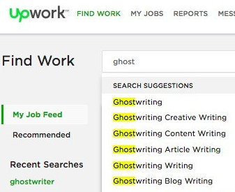 Upwork ghostwriting